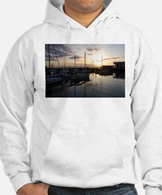 Boats at Sunset Horizontal Hoodie