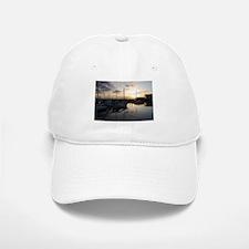 Boats at Sunset Horizontal Baseball Baseball Cap