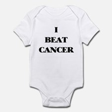 I BEAT CANCER on a Infant Creeper