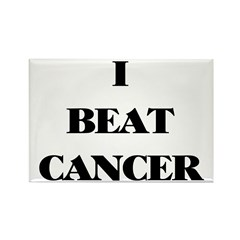 I BEAT CANCER on a Rectangle Magnet (10 pack)
