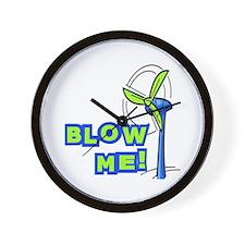 Blow Me Wind Power Wall Clock