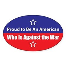 Against the War Oval Decal