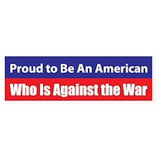 Against the War Bumper Bumper Sticker