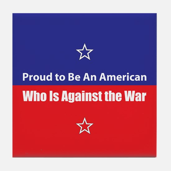 Against the War Tile Coaster