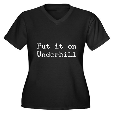 Put It On Underhill Women's Plus Size V-Neck Dark