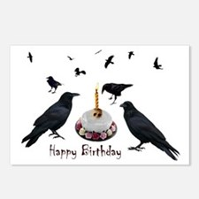 Crows Skull Cake Postcards (Package of 8)