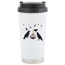 Crows Skull Cake Travel Coffee Mug