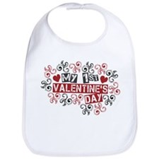 My 1st Valentine's Day Bib