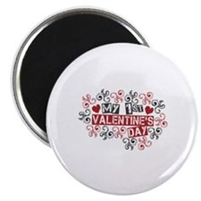 "My 1st Valentine's Day 2.25"" Magnet (10 pack)"