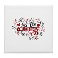 My 1st Valentine's Day Tile Coaster