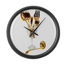 Luxurious Table Set Large Wall Clock