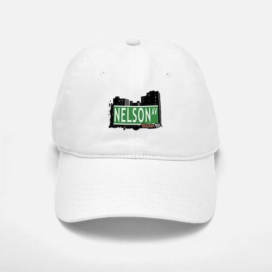 Nelson Av, Bronx, NYC Baseball Baseball Cap