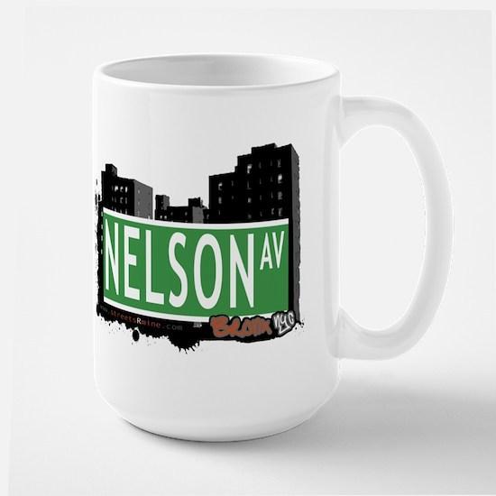 Nelson Av, Bronx, NYC Large Mug
