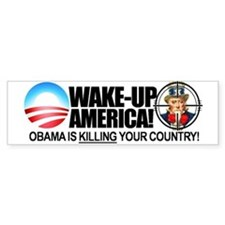 """Obama is KILLING Your Country"" Car Sticker"