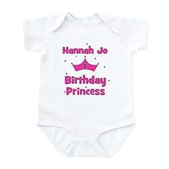 HANNAH JO Birthday Princess Infant Bodysuit