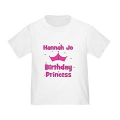 HANNAH JO Birthday Princess T