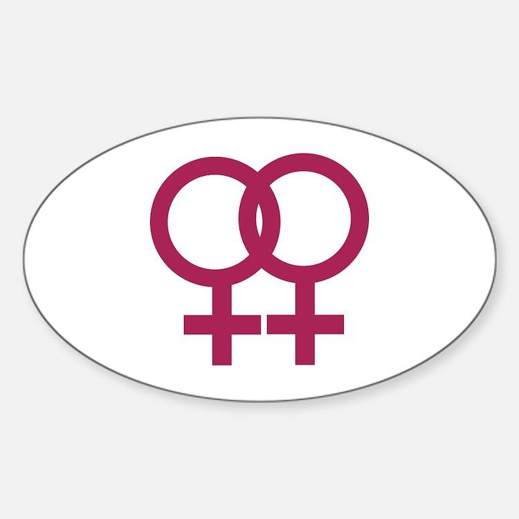 Lesbian Sticker (Oval)