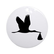 Stork - Baby Ornament (Round)
