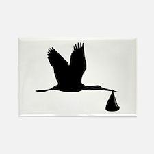 Stork - Baby Rectangle Magnet (100 pack)