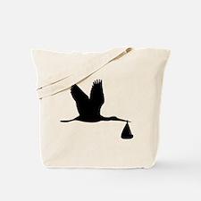 Stork - Baby Tote Bag