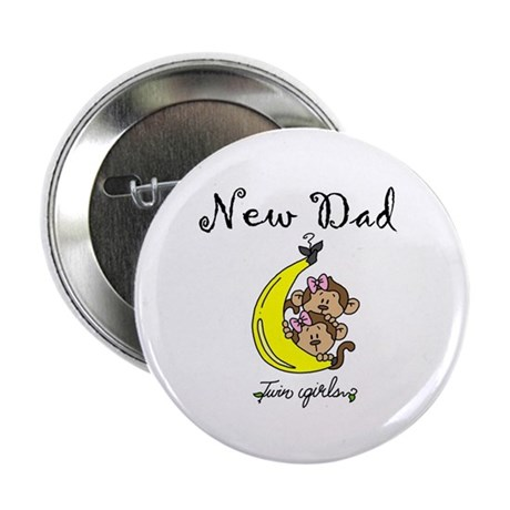 "New Dad of Twin Girls 2.25"" Button (100 pack)"