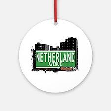 Netherland Av, Bronx, NYC Ornament (Round)