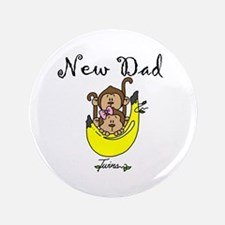 "New Dad of Twins 3.5"" Button"