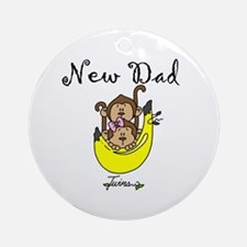 New Dad of Twins Ornament (Round)