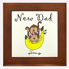 New Dad of Twins Framed Tile