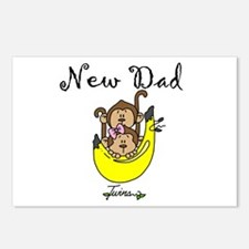 New Dad of Twins Postcards (Package of 8)