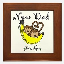 New Dad of Twin Boys Framed Tile