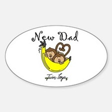New Dad of Twin Boys Decal