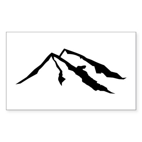 Mountains Sticker (Rectangle)