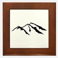 Mountains Framed Tile