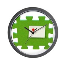 Puzzle Note Wall Clock
