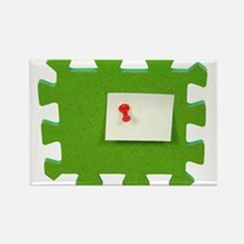 Puzzle Note Rectangle Magnet