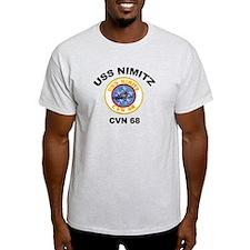 USS Nimitz CVN 68 Ash Grey T-Shirt
