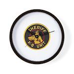 Sheriff K9 Unit Wall Clock
