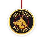Sheriff K9 Unit Ornament (Round)