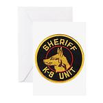 Sheriff K9 Unit Greeting Cards (Pk of 10)
