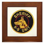 Sheriff K9 Unit Framed Tile