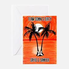 LOST Team Down & Dirty Sayid Sawyer Greeting Card