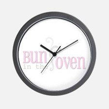 Bun in the Oven Pink Wall Clock
