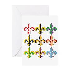 Fleur De Lis Colors Greeting Card