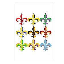 Fleur De Lis Colors Postcards (Package of 8)