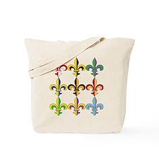Fleur De Lis Colors Tote Bag