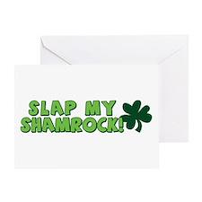 Slap My Shamrock Greeting Card