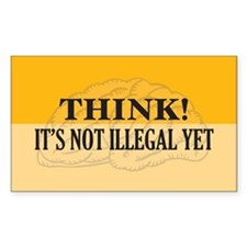 Think! Rectangle Decal