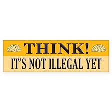 Think! Bumper Bumper Sticker