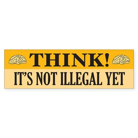 Think! Bumper Sticker